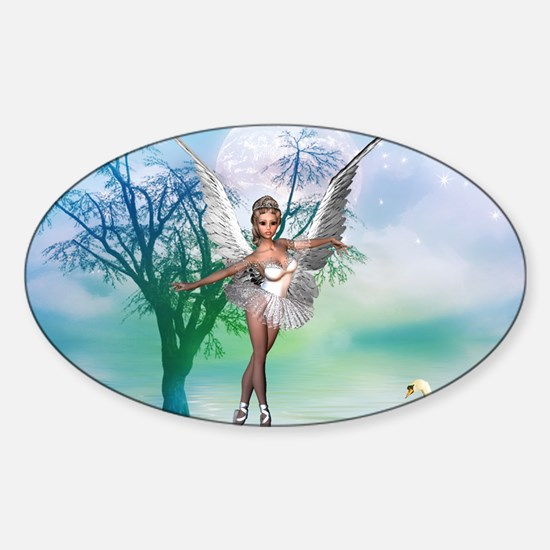 SWAN LAKE Oval Decal