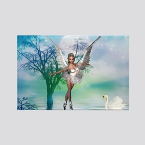 SWAN LAKE Rectangle Magnet