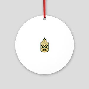 1st Sergeant Round Ornament