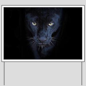 Black Panther Yard Sign