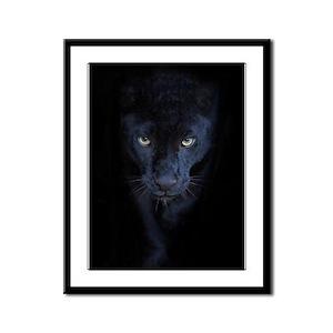 Black Panther Framed Panel Print