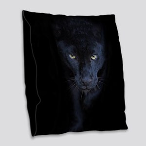 Black Panther Burlap Throw Pillow