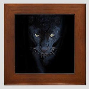 Black Panther Framed Tile