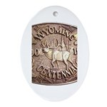 WY Centennial Ornament (Oval)