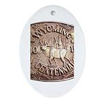WY Centennial Ornament (Oval)