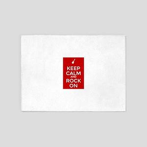 Keep Calm and Rock On 5'x7'Area Rug