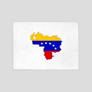 Venezuelan Flag Silhouette 5'x7'Area Rug