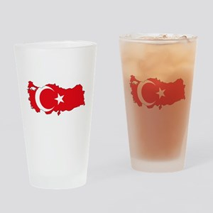 Turkish Flag Silhouette Drinking Glass