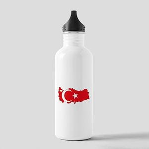 Turkish Flag Silhouette Water Bottle