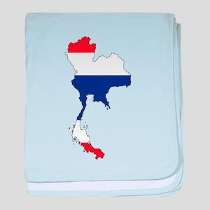 Thai Flag Silhouette baby blanket