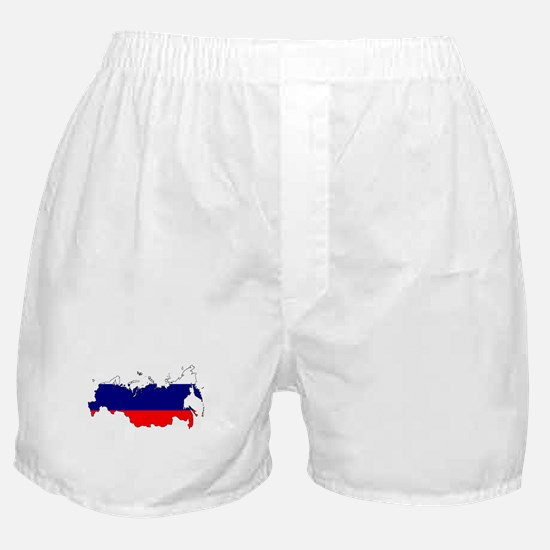 Russian Flag Silhouette Boxer Shorts
