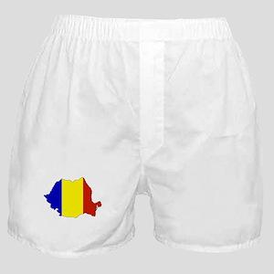 Romanian Flag Silhouette Boxer Shorts