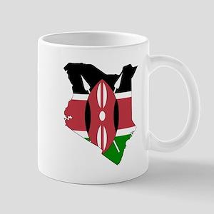 Kenyan Flag Silhouette Mugs
