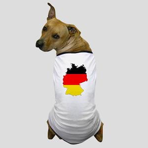 German Flag Silhouette Dog T-Shirt