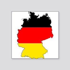 German Flag Silhouette Sticker