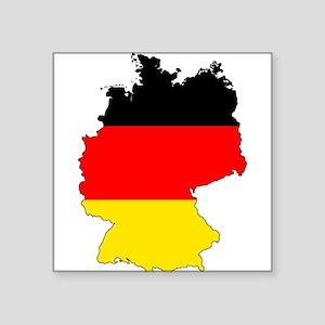 German Flag Silhouette Sticker