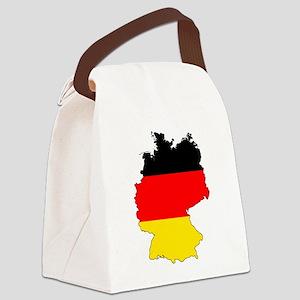 German Flag Silhouette Canvas Lunch Bag
