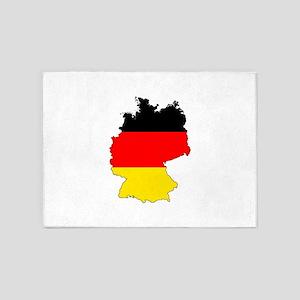 German Flag Silhouette 5'x7'Area Rug