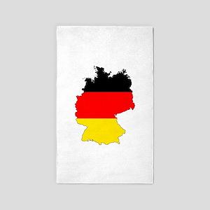 German Flag Silhouette Area Rug