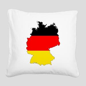 German Flag Silhouette Square Canvas Pillow