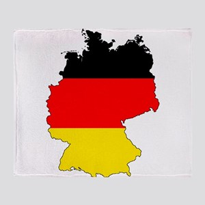 German Flag Silhouette Throw Blanket