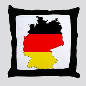German Flag Silhouette Throw Pillow