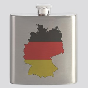 German Flag Silhouette Flask