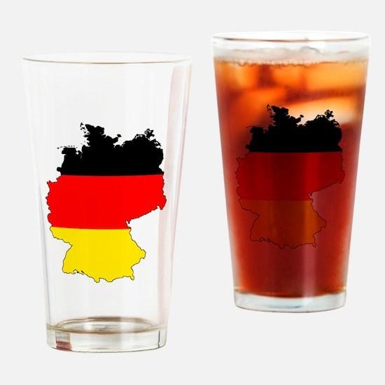 German Flag Silhouette Drinking Glass