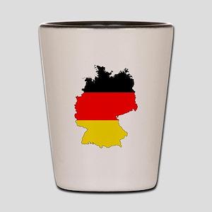 German Flag Silhouette Shot Glass
