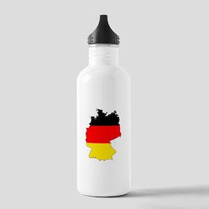 German Flag Silhouette Water Bottle