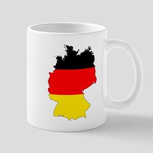 German Flag Silhouette Mugs
