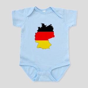 German Flag Silhouette Body Suit