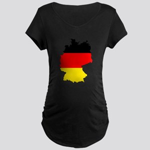 German Flag Silhouette Maternity T-Shirt