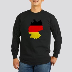 German Flag Silhouette Long Sleeve T-Shirt