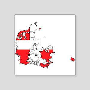 Danish Flag Silhouette Sticker