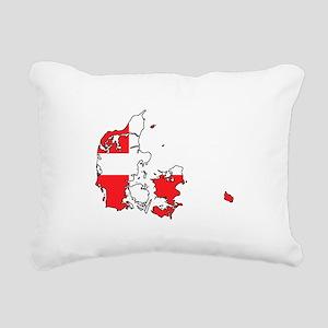 Danish Flag Silhouette Rectangular Canvas Pillow