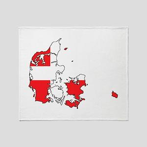 Danish Flag Silhouette Throw Blanket
