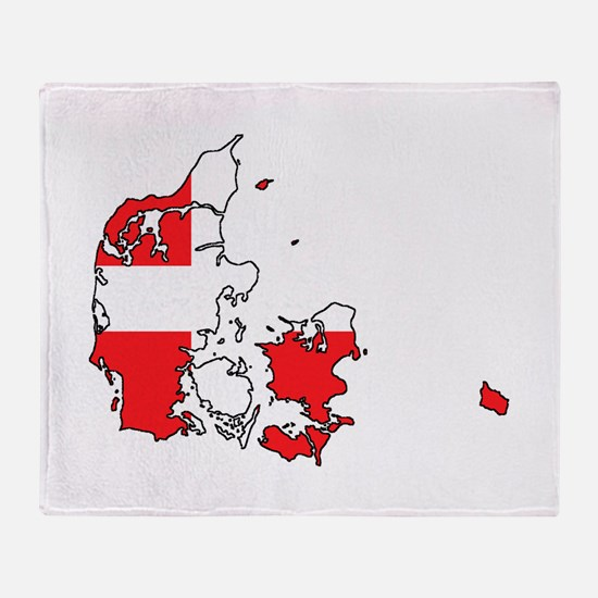 Danish Flag Silhouette Throw Blanket