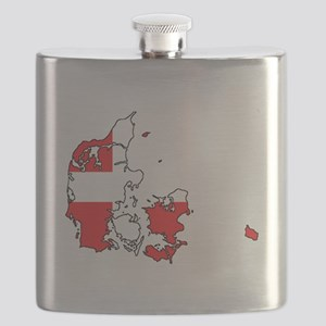 Danish Flag Silhouette Flask