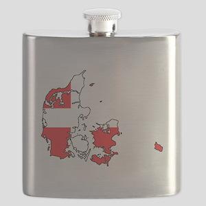 Danish Flag Silhouette Flask