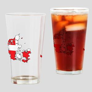 Danish Flag Silhouette Drinking Glass