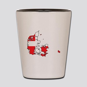 Danish Flag Silhouette Shot Glass