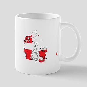 Danish Flag Silhouette Mugs