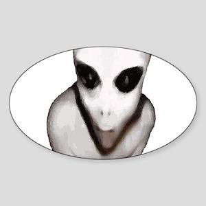 Alien Sticker (Oval)