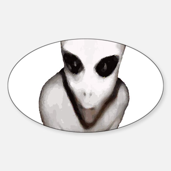 Alien Sticker (Oval)
