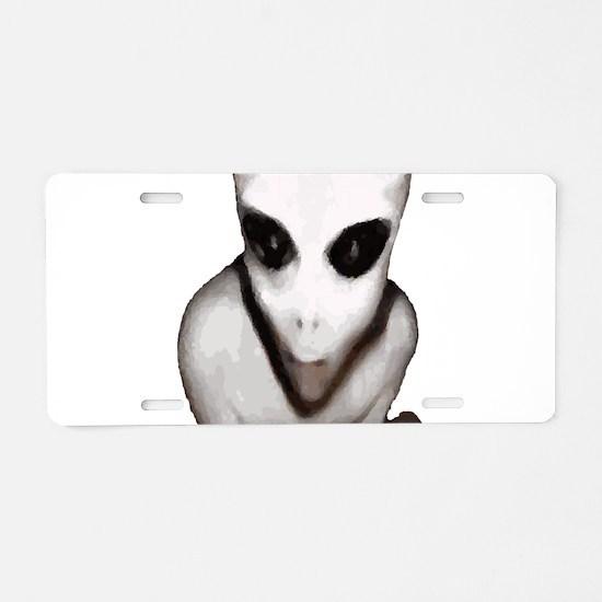 Alien Aluminum License Plate