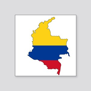 Colombian Flag Silhouette Sticker