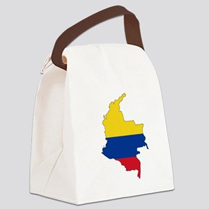 Colombian Flag Silhouette Canvas Lunch Bag