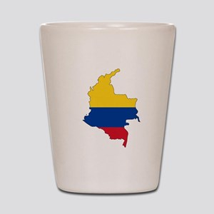 Colombian Flag Silhouette Shot Glass