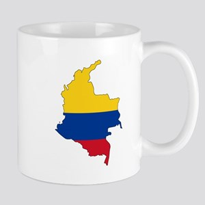 Colombian Flag Silhouette Mugs